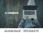 e commerce concept | Shutterstock . vector #505266370
