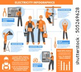 electricity infographics flat... | Shutterstock .eps vector #505269628