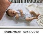 adorable newborn lies in the... | Shutterstock . vector #505272940