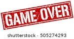 game over. grunge vintage game... | Shutterstock .eps vector #505274293