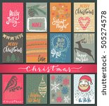 collection of nine christmas... | Shutterstock .eps vector #505274578