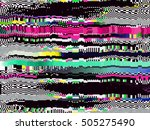 glitch background. computer... | Shutterstock .eps vector #505275490