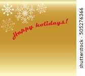 happy holidays card with... | Shutterstock .eps vector #505276366