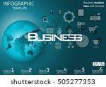 business world for modern idea... | Shutterstock .eps vector #505277353