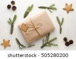 christmas gift  thread  pine...   Shutterstock . vector #505280200