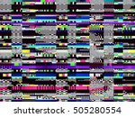 glitch background. computer... | Shutterstock .eps vector #505280554