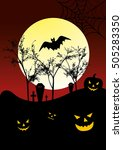 vector halloween background | Shutterstock .eps vector #505283350
