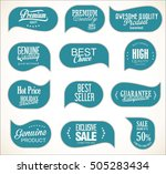 modern sale stickers collection | Shutterstock .eps vector #505283434