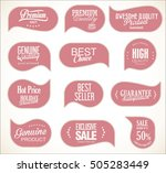 modern sale stickers collection | Shutterstock .eps vector #505283449