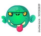 cartoon zombie. halloween... | Shutterstock .eps vector #505283839