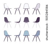 set of chairs shown from... | Shutterstock .eps vector #505284586