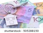 saving australian dollars for a ... | Shutterstock . vector #505288150