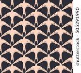 swallow pattern  vector ... | Shutterstock .eps vector #505291990