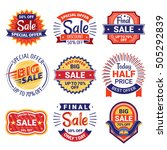 sale tags set. sale badges and...   Shutterstock .eps vector #505292839
