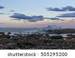 stony shoreline on ullsfjord...   Shutterstock . vector #505295200