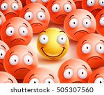 smiley vector character the... | Shutterstock .eps vector #505307560