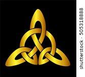 vector template celtic knot for ... | Shutterstock .eps vector #505318888