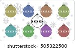 new year toys with snowflakes | Shutterstock .eps vector #505322500