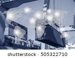 global logistics network... | Shutterstock . vector #505322710