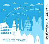 time to travel concept with... | Shutterstock .eps vector #505324918