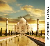 taj mahal palace in india on... | Shutterstock . vector #5053381