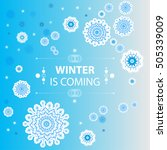 abstract design with snowflakes.... | Shutterstock .eps vector #505339009