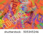 colorful   blur city names word ... | Shutterstock . vector #505345246
