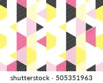 geometric pattern with stripes. ... | Shutterstock .eps vector #505351963