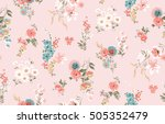 Stock vector trendy seamless floral pattern in vector 505352479