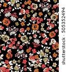 trendy seamless floral pattern... | Shutterstock .eps vector #505352494