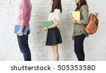 education students people... | Shutterstock . vector #505353580