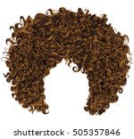 trendy curly  red  hair  .... | Shutterstock .eps vector #505357846