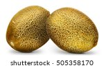 Group Of Melons Isolated On...