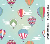 vector seamless pattern ... | Shutterstock .eps vector #505358569
