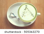 the cup of green with christmas ... | Shutterstock . vector #505363270
