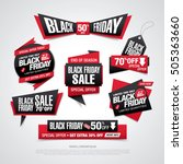 black friday sale icons set | Shutterstock .eps vector #505363660