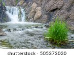 falling water in the morning... | Shutterstock . vector #505373020