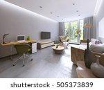 modern living room in kitsch... | Shutterstock . vector #505373839