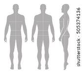 fashion bald man full length... | Shutterstock . vector #505374136