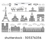 architectural landmarks of... | Shutterstock .eps vector #505376356