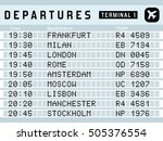 airport timetable   departure... | Shutterstock .eps vector #505376554