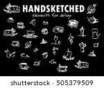 Vector Element For Design. Hand ...