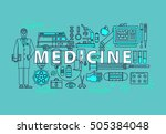 set of medical icons or... | Shutterstock .eps vector #505384048