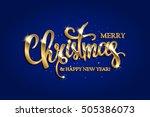 golden text on blue background. ... | Shutterstock .eps vector #505386073