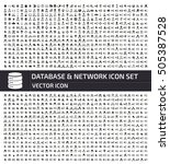 database and network icon set... | Shutterstock .eps vector #505387528