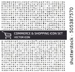 commerce and shopping icon set... | Shutterstock .eps vector #505387570