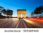 triumphal arch. paris. france.... | Shutterstock . vector #505389400