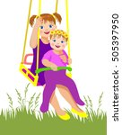 vector illustration. older... | Shutterstock .eps vector #505397950