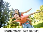 holidays  vacation  love and... | Shutterstock . vector #505400734