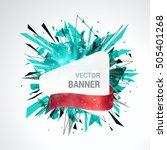 white origami paper banner... | Shutterstock .eps vector #505401268
